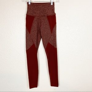 Beyond yoga maroon legging pants